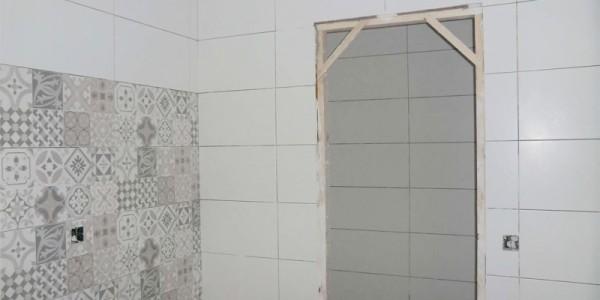 Colocación de los azulejos de la cocina