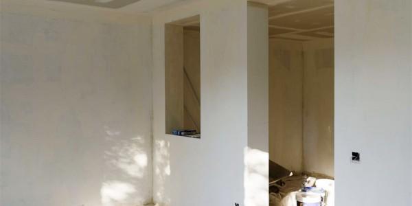 Preparación de tabiques y techos