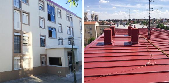 Rehabilitación de fachada y cubierta de edificio