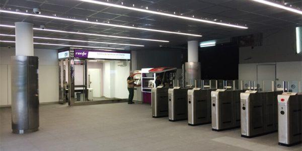 Finalización trabajos en el interior de la estación